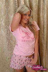 Blonde In Sleepwear Thumb In Shorts
